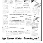 Water Shortage Headlines Collage