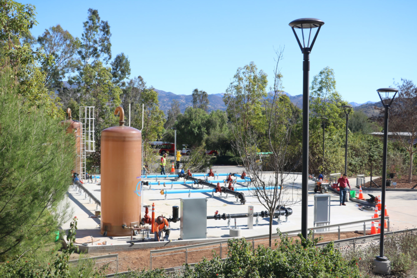 Administrators plan to eventually offer onsite and hybrid courses involving the Cuyamaca College Center for Water Studies field operations skills yard for hands-on experience. Photo: Courtesy GCCCD