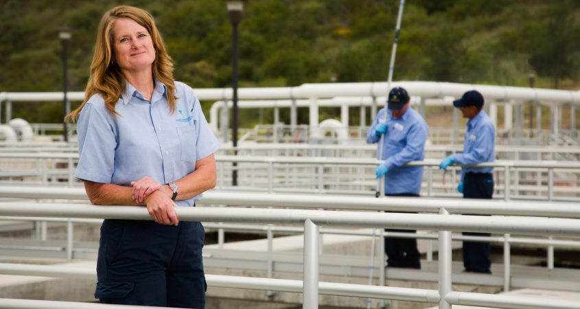 The California Water Environment Association of San Diego recognized Vallecitos Water District wastewater treatment plant supervisor Dawn McDougle as its 2018 Supervisor of the Year. Photo: Courtesy VWD