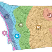 San Diego County's six climate zone according to CIMIS