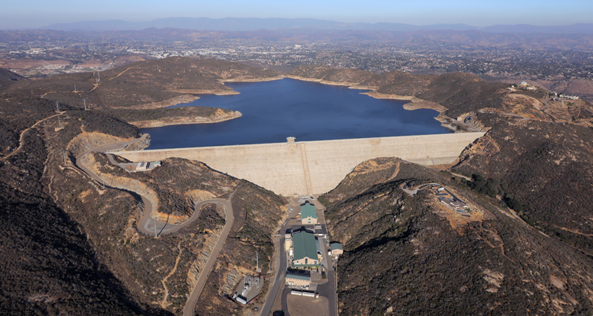 The 318-foot-tall Olivenhain Dam in North County is a major component of the Water Authority's Emergency and Carryover Storage Project. The dam added 24,000 acre-feet of water storage capacity. Golden Watchdog Award