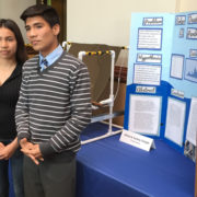 Alfred and Audrey Vargas, a brother and sister team from Sweetwater High School, won top honors from the Water Authority for water-related projects at the regional Science and Engineering Fair. Their work is designed to provide low-cost fresh water to people in developing countries. Photo: SDCWA