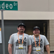 Water Authority maintenance employees John Brown and Bobby Bond Jr. ready to compete at the National Skills Roadeo in Kansas City, Missouri. Photo: Courtesy Bobby Bond Jr.