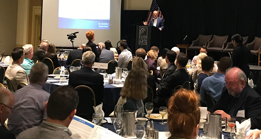 Water Authority Board Chair Jim Madaffer provided the keynote address at the 2018 North County Water Symposium. Photo: Water Authority