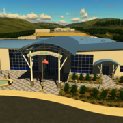 An artist's rendering of the new Padre Dam Visitor Center at the East County Water Purification Treatment Center. Graphic: Gourtesy Padre Dam Municipal Water District water repurification water reliability
