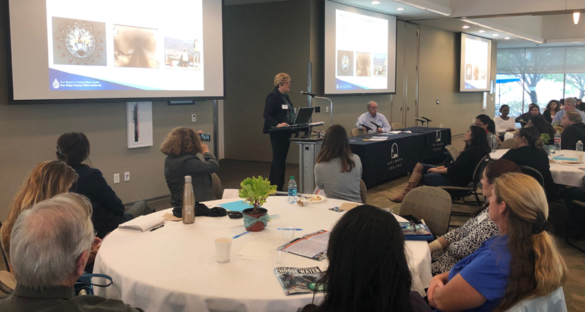 Sandy Kerl, deputy general manager of the San Diego County Water Authority, was a featured speaker at the Women In Water symposium at Cuyamaca College.