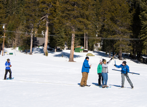 The California Department of Water Resources conducted the second snow survey of the 2019 season at Phillips Station in the Sierra Nevada Mountains. The survey site is approximately 90 miles east of Sacramento in El Dorado County. Photo: Florence Low / California Department of Water Resources.