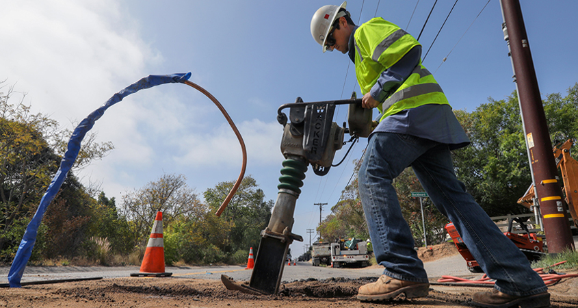FPUD is embarking on a number of prevention, maintenance and improvement projects to safeguard and maintain its pipes and infrastructure. Photo: Fallbrook PUD