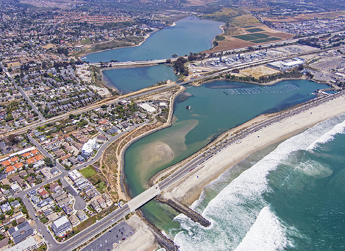 San Diego regional water quality regulators issued a new permit for the development of permanent, stand-alone seawater intake and discharge facilities at the Carlsbad Desalination Plant. Photo: Water Authority