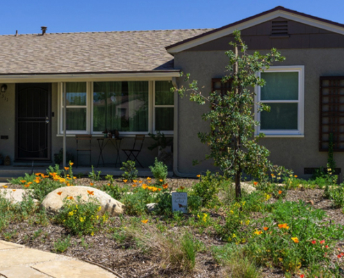 The Kirkpatricks took advantage of the Water Authority's WaterSmart Landscaping classes. Photo: Helix Water District
