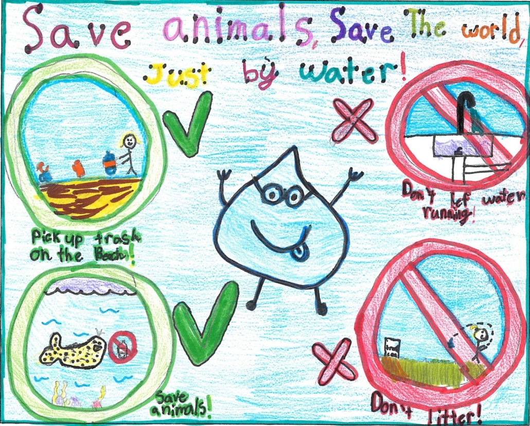 Addison Bowe, the second-place winner, designed a poster that highlights the connection between water conservation and pollution prevention. Photo: OMWD Poster Contest