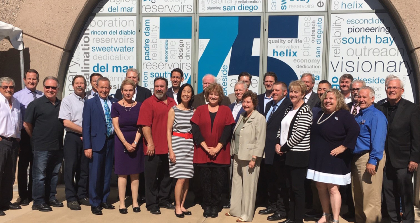 The San Diego County Water Authority's Board of Directors celebrated the agency's 75th anniversary.