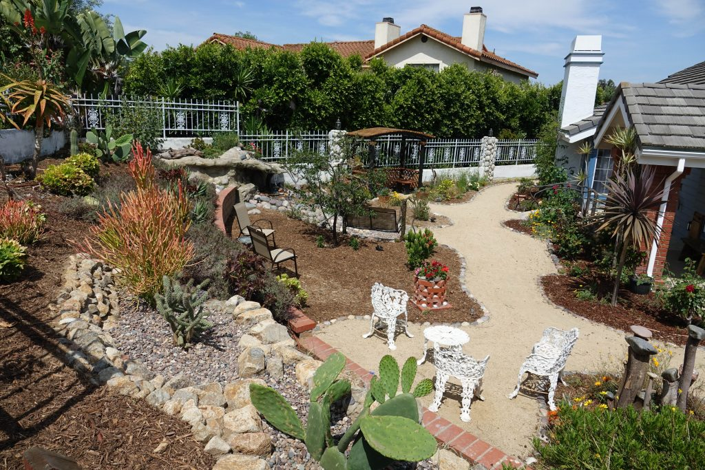 The Cissells designed their new yard after attending the Water Authority's free WaterSmart Landscape Makeover courses. Photo: Otay Water District