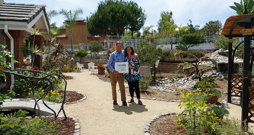 La Mesa residents Bob and Shan Cissell transformed 2,500 square feet of turf into their own Conservation Garden in La Mesa, winning the 2019 Oty Water District Landscaping Contest. Photo: Otay Water District