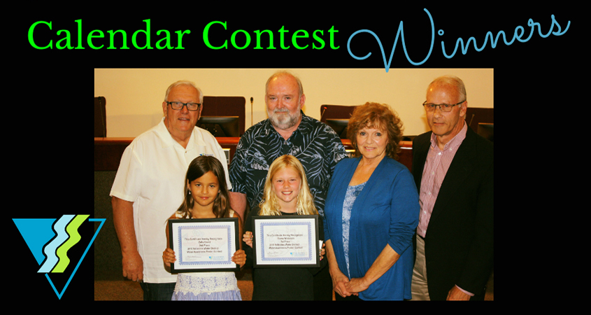 Vallecitos Water District contest winners are honored at the July board L to R: Sierra Whiteside, Zofia Dowd. Photo: Vallecitos Water District