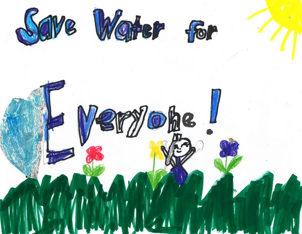 Amerie Constantino, Grade 1, Wolf Canyon Elementary School (second place; K-3). Photo: Otay Water District