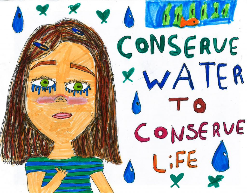 Malayiah Williams, Grade 5, Wolf Canyon Elementary School (Second Place; 4-6). Photo: Otay Water District