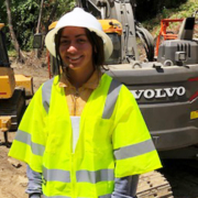 Mary Maciel learns good safety practices as part of her summer internship with the Fallbrook Public Utility District. Photo: FPUD Water industry career opportunities