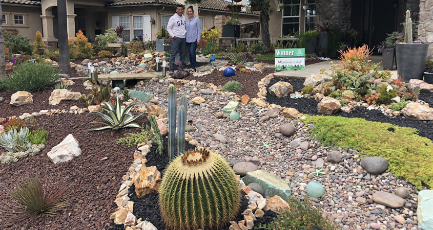 The Nieves family's landscape makeover project won the Sweetwater Authority's contest in 2019. Photo: Sweetwater Authority 2020 landscape makeover