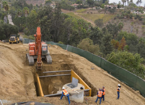 Pipeline relining is an efficient technique that extends the lifespan of pipes while minimizing costs and impacts to nearby communities. Photo: Water Authority