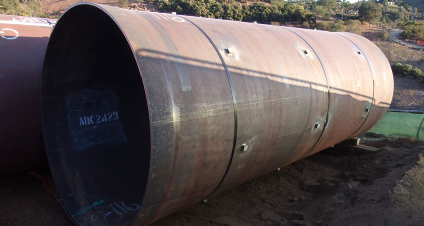 New steel liners can extend the lifespan of a pipe by several decades. Photo: Water Authority