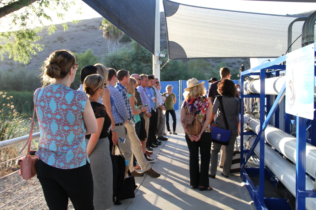 "Citizens Water Academy participants tour the Claude ""Bud"" Lewis Desalination Plant in Carlsbad. Photo: Water Authority"