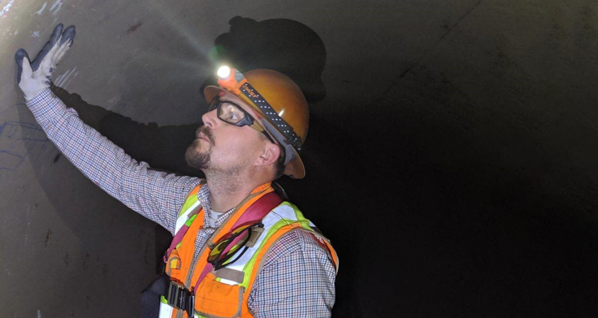 Water Authority staff inspect leak in Pipeline 4