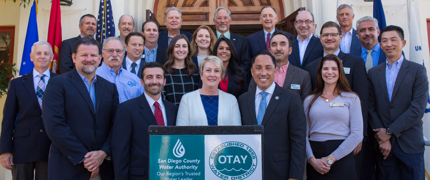 AB 1588 signing celebrated in San Diego October 16, 2019. Bill creates path to California water industry jobs for military veterans