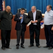 Bruce Wilcox honored by members of the Salton Sea Authority