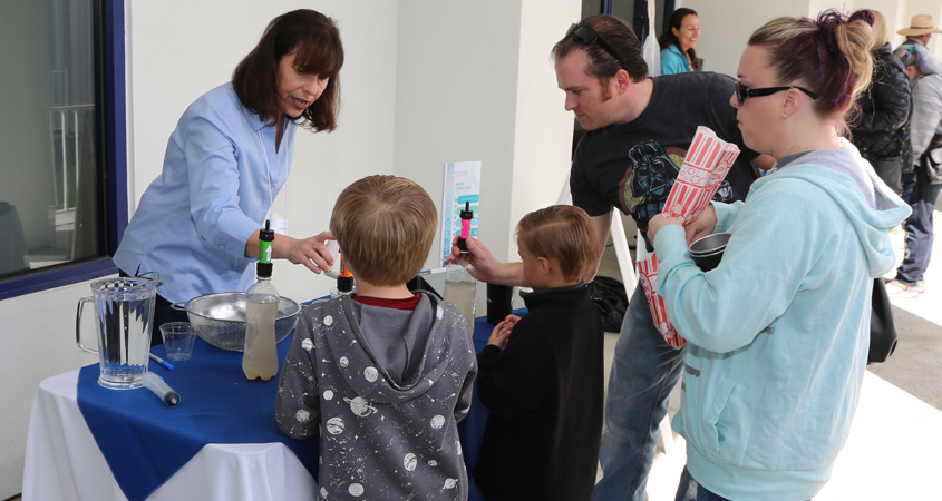 Visitors learn about technology used to purify and recycle water at a recent Pure Water Oceanside open house. Photo: City of Oceanside