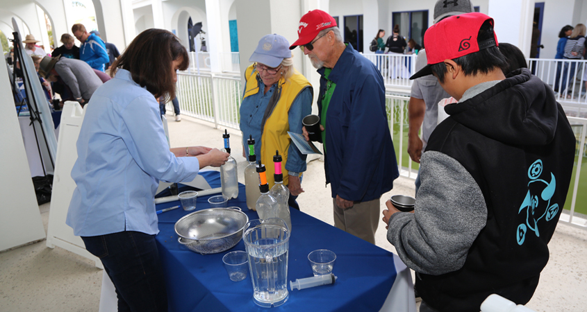 Visitors learn about technology used to purify and recycle water at Pure Water Oceanside open house outreach events. Photo: City of Oceanside Water agency outreach