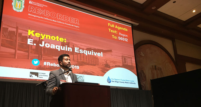 State Water Resources Control Board Chair E. Joaquin Esquivel at RE:BORDER 2019 - WNN