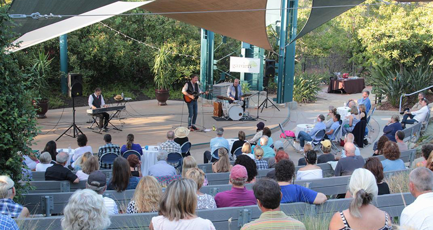 The Garden's amphitheater seats 300 and will host its 20th anniversary benefit concert on Nov. 16. Photo: Water Conservation Garden