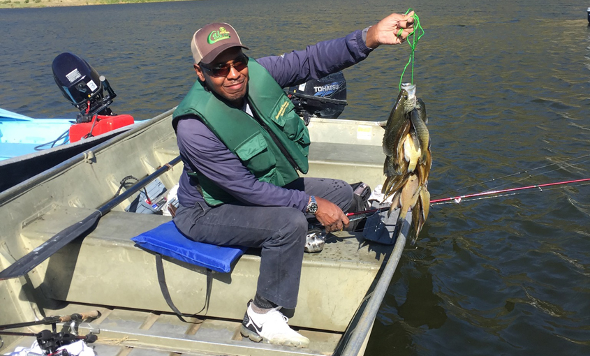Bluegill are plentiful at El Capitan Reservoir in the Cuyamaca Mountains. Photo: City of San Diego