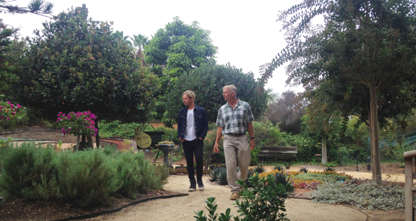 Jon Foreman of the San Diego band Switchfoot is among the many fans of The Water Conservation Garden in San Diego's East County. Photo: Water Authority