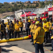 North San Diego County fire agencies teamed up in November with the Vallecitos Water District for confined space training drills. Photo: Vallecitos Water District