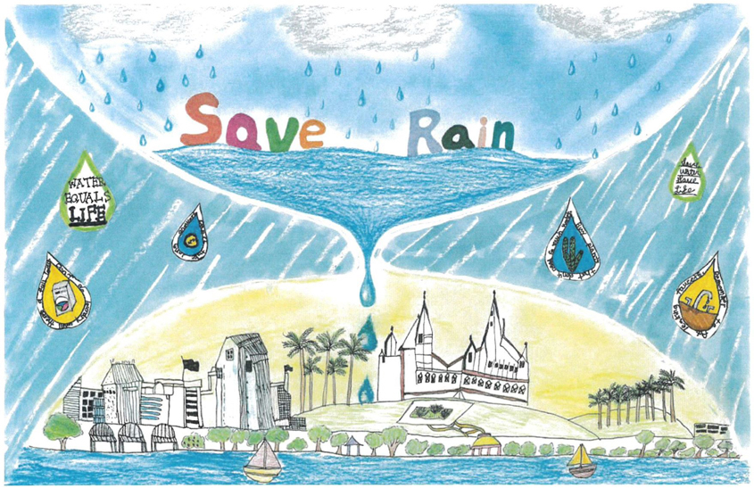 First Place, Second Grade: Isabella Chen, Solana Ranch Elementary, Carmel Valley 2020 Water Conservation Calendar