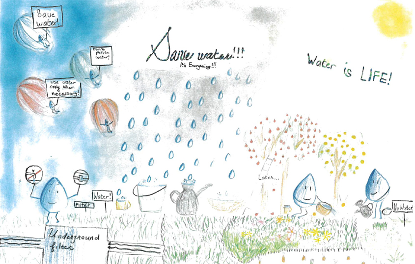 First Place, Third Grade: Derick Chi, Sage Canyon Elementary, Carmel Valley 2020 Water Conservation Calendar