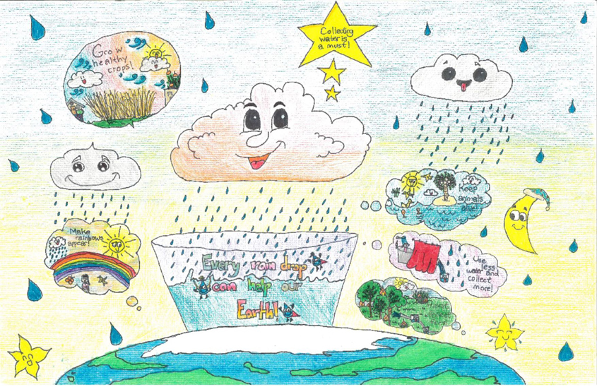 First Place winner, Fourth Grade: Veronica Yu, Del Mar Pines Elementary, Carmel Valley 2020 Water Conservation Calendar