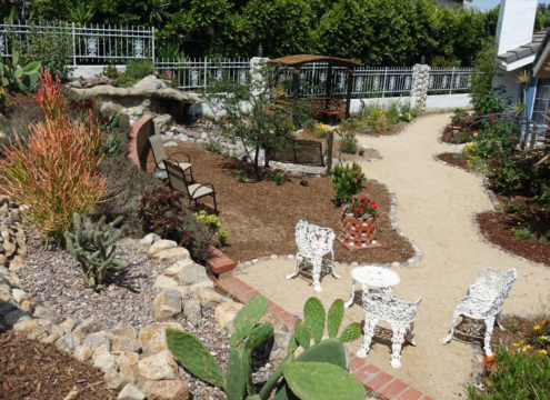 Rocks and small boulders are both aesthetically pleasing and useful in your landscape. Photo: Otay Water District