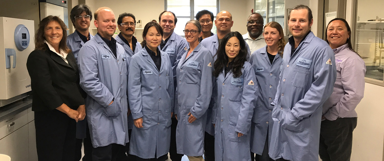 Nicki Branch (far left) and members of the Escondido Water Quality Lab, one of only two certified labs in California under new standards. Photo: City of Escondido