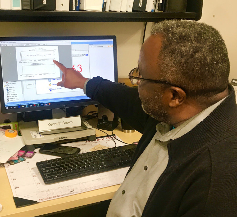 As part of compliance with the new standards, Laboratory Technician Ken Brown was promoted to the lab's Quality Assurance Officer. Photo: City of Escondido