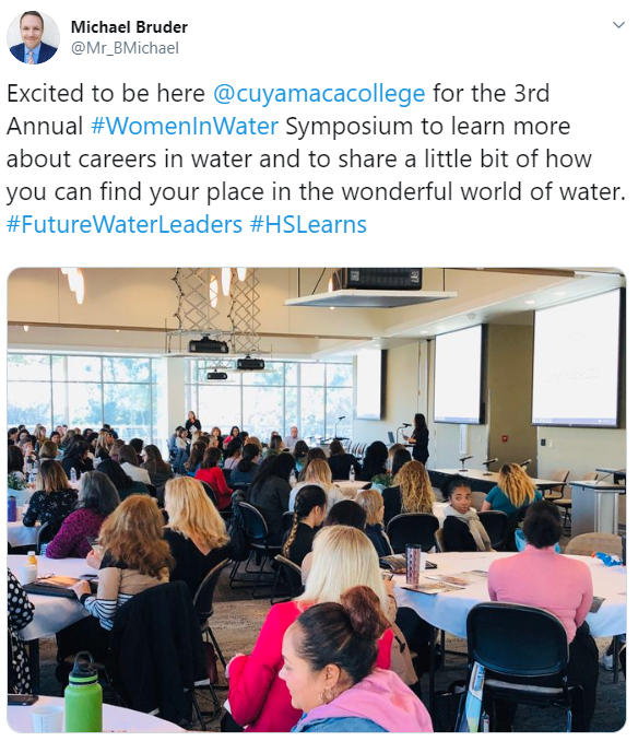 2020 Women in Water - Cuyamaca College - Michael Bruder tweet