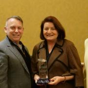 State Sen. Toni Atkins receives CMUA Safe Drinking Water Champion Award January 27, 2020 in Sacramento