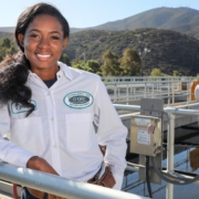 Otay Water District Reclamation Plant Operator Tyrese Powell is among the women pursuing career opportunities in the water and wastewater industry. Photo: Water Authority