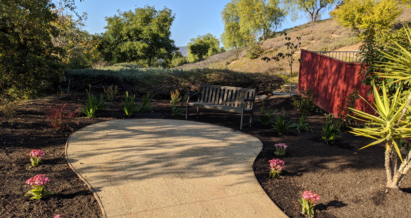Eileen Koonce says she was able to install her own landscaping with the help she received from instructors. Photo: Vallecitos Water District