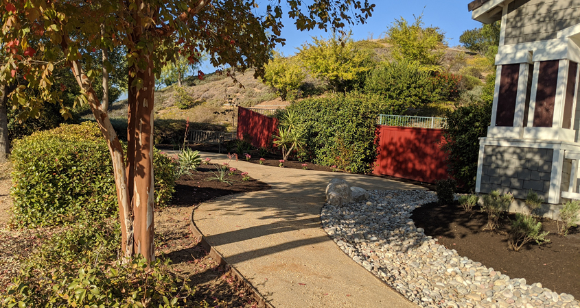 Inspired by the San Diego County Water Authority's free landscape makeover classes, Vallecitos Water District employee Eileen Koonce transformed her own landscaping. Photo: Vallecitos Water District example watersmart landscaping