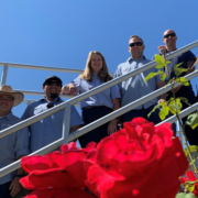 (L to R) Vallecitos Water District employees at the Meadowlark Water Reclamation Facility: Ivan Murguia, Arturo Sanchez, Dawn McDougle, Chris Deering, Marc Smith, and Matt Wiese. Photo: Vallecitos Water District employees