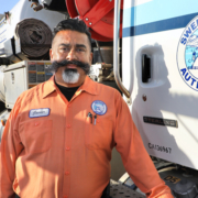 """The desire to produce quality work and to know that customers can depend on us is what motivates me,"" said Sweetwater Authority Field Crew Supervisor Javier Natividad. Photo: Water Authority water pros working"