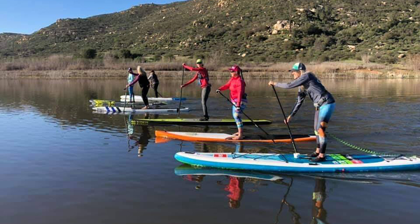 Standup paddleboarding will return to Lake Hodges on Saturday, July 1. Photo: City of San Diego reservoirs begin reopening